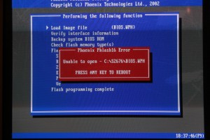 FreeDOS Tyan Phoenix BIOS Update mit Phlash16